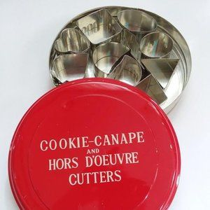 1960's Canape and Hors D'oeuvre Cutters